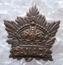 Badge- Canadian Genaral Service Corps Cap Badge, BRONZE