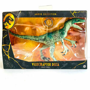 Jurassic World Amber Collection VELOCIRAPTOR DELTA Dinosaur Action Figure - NEW