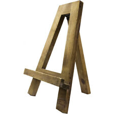"""Reclaimed Natural Wood Tabletop Tripod A-Frame Display Easel Stand Holder, 13"""""""