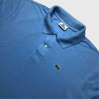 Mens Lacoste Polo Shirt XL/6 Blue Short Sleeve Cotton