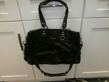 Coach F15513 Ashley Black Leather Carryall Shoulder Bag Tote Handbag Purse EUC
