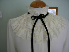ST MICHAEL VINTAGE 70'S FRILLY RUFFLE NECK BLOUSE 10 NEW ROMANTIC/80'S/VICTORIAN