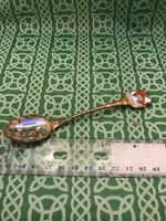 Odinsborg Gamma Uppsala Sweden Painted Enamel Souvenir Spoon FREE SHIPPING