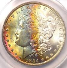 1884-O Toned Morgan Silver Dollar $1 - ANACS MS62 - Nice Rainbow Toning!