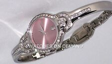 NEW LADIES MOVADO KARA SS PINK DIAL 0605284 0.90ct APPROXIMATELY DIAMOND WATCH *