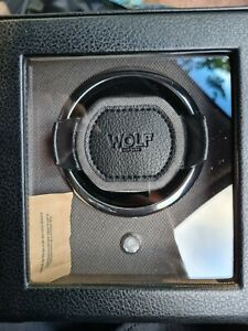 Wolf Watch Winder with Cover - Black - NEW in Box - Module 1.8