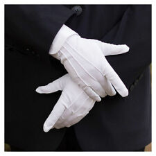 Polyester White Unisex Gloves for Inspection Doorman Santa Magician Breathable