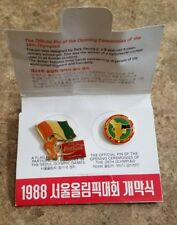 SEOUL 1988 OLYMPIC GAMES OFFICIAL PINS OPENING CEREMONIES TRADING PIN SET Coke