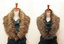 2 x Fashion New Trendy Raccoon Faux Fur Collar Scarf Wrap Shrug Brown Design UK