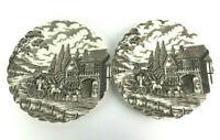 Royal Mail Ironstone Lunch Salad Plates Dishes Lot Set 2 Vintage Staffordshire