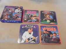 Set of Four Joe Camel Drink Coasters Hard Pack, Camel Wides, Lights from 1992