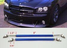 "Blue 8"" Adjustable Rod Support for Ford Bumper Lip Diffuser Spoiler splitter"