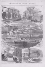 1886 antica stampa-Cheshire Warrington Crosfield SAPONIFICIO Mersey (267)
