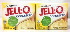 Jello Lemon Cook & Serve Pudding & Pie Filling 2.9 oz  (2 Boxes)