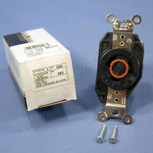 Leviton Turn Locking L10-20R Receptacle Twist Outlet 20A 125/250V 2360-065 Boxed
