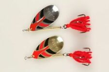 Jigs et spinnerbaits argentées pour la pêche