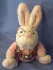 """Gund 11"""" Sitting Alice In Wonderland White Rabbit with Wire Glasses"""