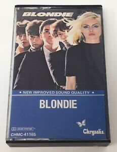 BLONDIE Self Titled Debut Cassette Tape Black Shell Canada Import Private Stock