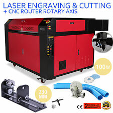 100w Co2 CO2 Lasergraviermaschine Gravurmaschine W/Rotary Axis Laser Cutter