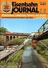 Eisenbahn Journal Heft Eisenbahn zwischen Rhein und Ruhr Westdeutsche 1838 (C8)