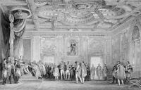 CHATEAU PALACE OF FONTAINEBLEAU NAPOLEON THRONE ROOM ~ 1865 Art Print Engraving