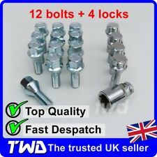 16x WHEEL BOLTS + LOCKS FOR PEUGEOT WITH AFTERMARKET ALLOYS LUG STUDS NUTS [C3b]