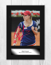 More details for alize cornet 1 a4 signed mounted photograph picture poster choice of frame