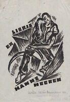 Exlibris Willi Wüstermann Hans Heeren / Expressionismus signiert