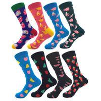 Men's Casual Happy Socks 8 Colors Warm Food Fruit Strawberry Watermelon Socks