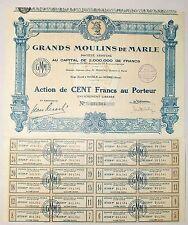 Dépt 02 - Marle sur Serre - Superbe Entête d'une Minoterie du 12/04/1931