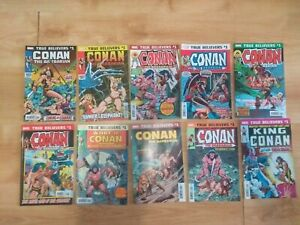 Conan the Barbarian comics lot true believers first issue Marvel