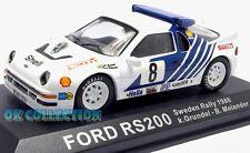 1:43 Rally FORD RS200  -Sweden 1986 - Grundel - Melander (041)
