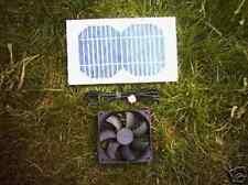 KIT di ventilazione solare, 3W, 120MM Ventola per Casa di pollo, Canile, Conigliera ecc.