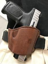 Brown Leather Belt Slide Gun Holster for Glock 22, 23, 24 Right Hand Draw