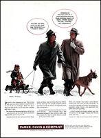1957 Harry Anderson art Parke-Davis Pharmaceutical RX Med vintage print ad adl86