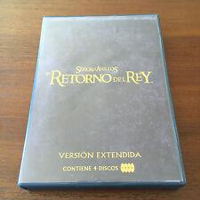 SEÑOR DE LOS ANILLOS EL RETORNO DEL REY EDICION EXTENDIDA + EXTRAS 4DVD - 240MIN