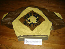 VINTAGE MARC BUCHANAN PELLE PELLE WORLD PEACE LEATHER JACKET sz 40 mustard brown