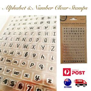 Alphabet & Number Clear Stamps Upper Lower Case Letters DIY Card Scrapbooking