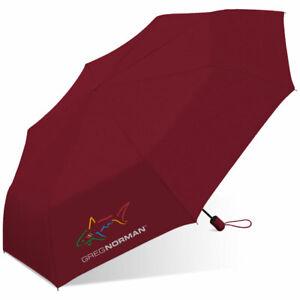 "Greg Norman Shark 42"" Deluxe Auto Mini Rain Umbrella Solid colors"