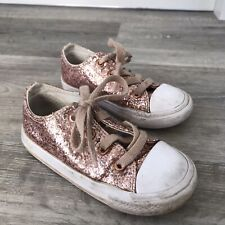 Super Sparkly Pink Converse (UK Infant Size 8)