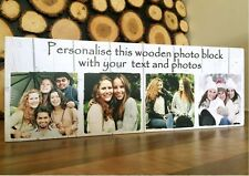 """11x4"""" Personalised Wood Photo Quote Block Friendship Best Friend Photo Gifts #"""