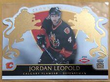 2002-03 JORDAN LEOPOLD PACIFIC CROWN ROYALE ROOKIE #107 FLAMES #0668/2299
