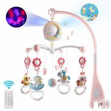 Baby Mobile für Kinderbett Krippe Licht und Musik 2020  Pink + 4 Batterie gratis