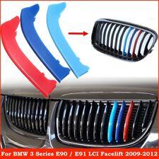 M Color Sport Kidney Grille Grill Strip Cover Clip Trim For BMW 3 Series E90 E91