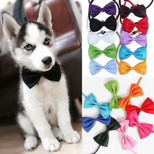 1/2Pcs Pet Puppy Fashion Bow Tie Necktie Dog Cat Cute Adjustable Collars Solid