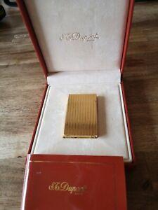 S.T Dupont Feuerzeug Gold Linie 2 mit Box ungraviert aus Nachlass