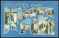 Niagara Falls, New York 1955 Vintage Large Letters Greetings Postcard