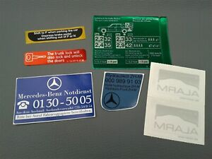 Mercedes-Benz genuine sticker set W124 230E / CE 260E 300E / CE automatic