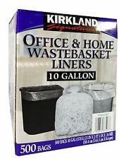 Kirkland Signature 10 Gallon Office & Home Wastebasket Liners - 500 Trash Bags