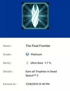 PlayStation Platinum Trophy Service Dead Space 2